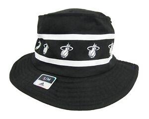 Adidas NBA Miami Heat Size Small Bucket Hat Black And White ... 6b7e4054e9f