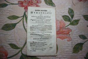 1808 Halle Hebdomadaire 52/noël/le Brave Femme-afficher Le Titre D'origine Acheter Un Donner Un