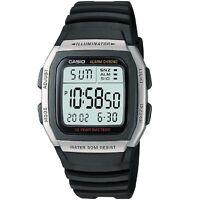 Casio W-96h-1av Silver Black Digital Watch W96h-1av With Box Included