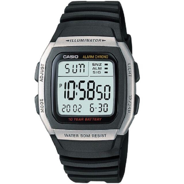Casio W-96H-1AV Silver Black Digital Watch W96H-1AV with Casio Retail Box