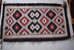 Image Is Loading Old Early Vintage Navajo Rug Blanket Native American