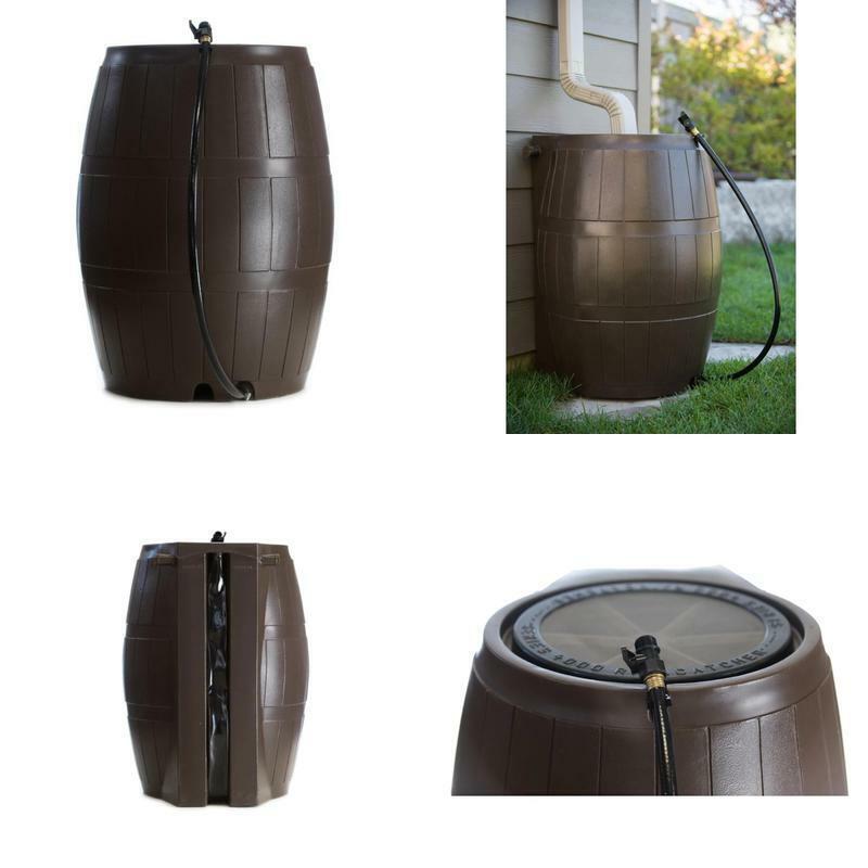 Rain Catcher Barrel Watering Container Irrigation Supply Home Garden Use 50 Gal