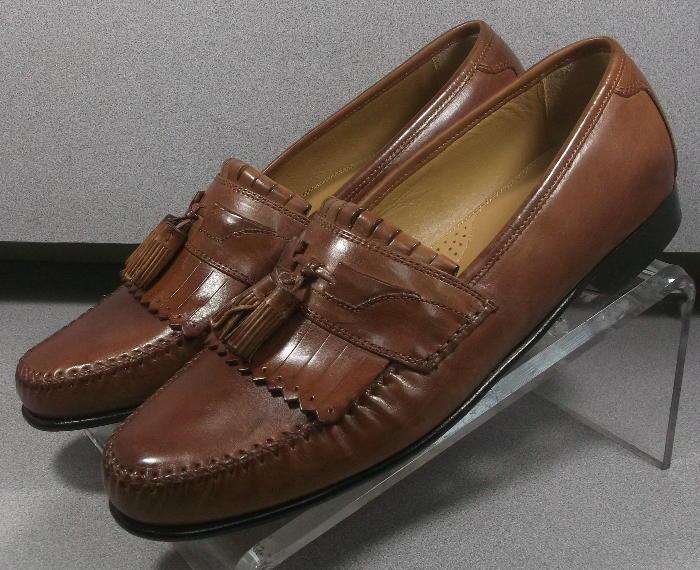 150836 MS50 para hombres zapatos W Oscuro Cuero Tostado Slip On Johnston & Murphy