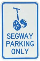 Smartsign Aluminum Sign, Legend designer Segway Parking Only With Graphic, 18