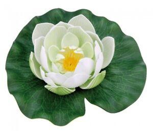 Pontec-PondoLily-White-Pond-Lily-Pads-Artificial-Pond-Plant-Decoration