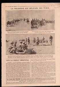 "WWI Palestine Turkey British Army Artillery/Caricature Poilus 1918 ILLUSTRATION - France - Commentaires du vendeur : ""OCCASION"" - France"