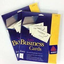 Avery Laser Business Cards Heavyweight 2 X 35 Ivory 250pack New Lot Of 2