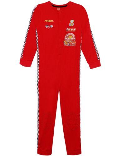 Garçons Disney All in One Voitures Lightning McQueen en coton rouge Sleepsuit 5-12 ans