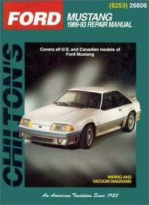 1989 1993 chilton ford mustang repair manual 9780801988158 ebay rh ebay com 1991 Mustang 2000 Mustang