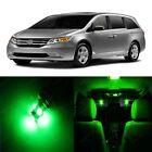 18 x Ultra Green LED Lights Interior Package Kit For Honda ODYSSEY 2011 - 2013