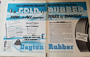 1949-Vintage-Dayton-Cold-Rubber-Two-Page-Tires-Original-Ad