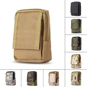 Military-Durable-Outdoor-Investigate-Tool-Pouch-Hook-Loop-Zippered-Bag-Small-Bag