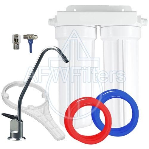 2 Stage 10  Drinking Water Filter for Fluoride, Arsenic, & Heavy Metal Removal