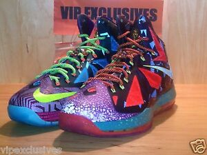 2f8f7c124c6 NIKE 10 LEBRON X WHAT THE MVP 2013 EXTREMELY LIMITED DS 618217-300 ...