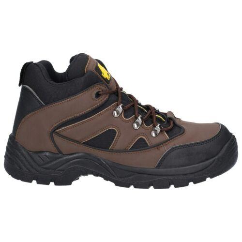 Amblers FS152 Seguridad Para Hombre Marrón Puntera De Acero Zapatos Botas De Trabajo Industrial UK4-13