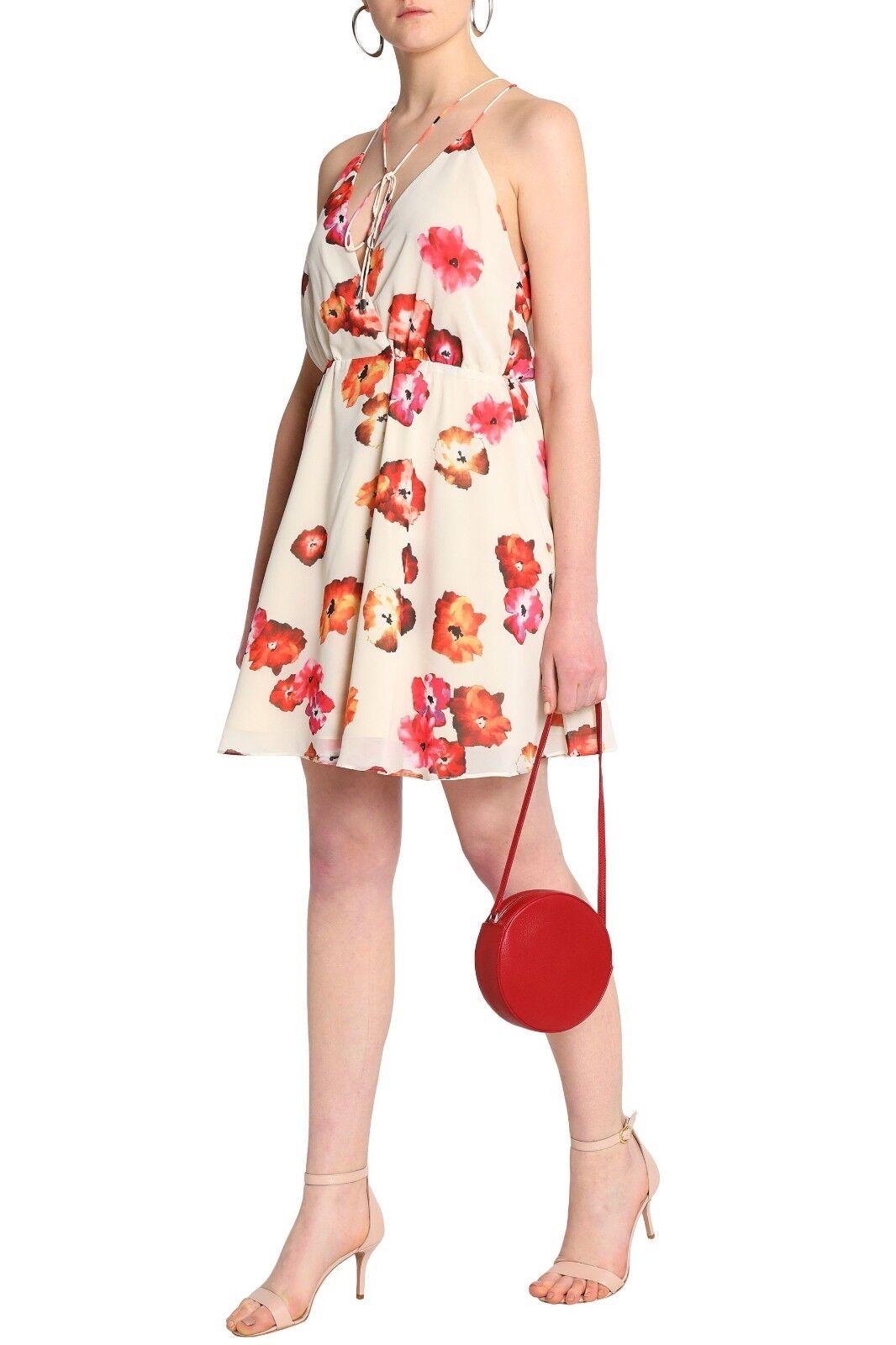 HAUTE HIPPIE Harmony Tie Dye Floral Wrap Dress Größe M NWT