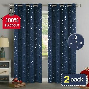 Details About Boy Nursery Curtains Blackout Bedroom Kids Thermal Insulated Set Of 2