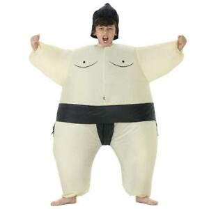 Kids Inflatable Sumo Wrestler Costume Fancy Dress Party Props One Size Fits Most