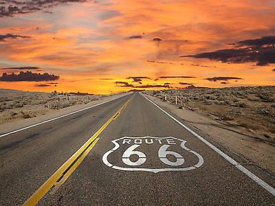 U.S Route 66  Poster Will Rogers Highway Mother Road A4 260GSM