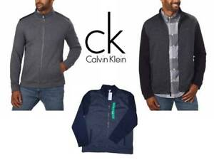 Calvin-Klein-Mens-Full-Zip-Mock-Neck-Collar-Sweater-Pick-a-size-color-NWT