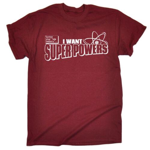 Screw Lab Safety Superpowers MEN T SHIRT birthday geek nerd scientist funny gift