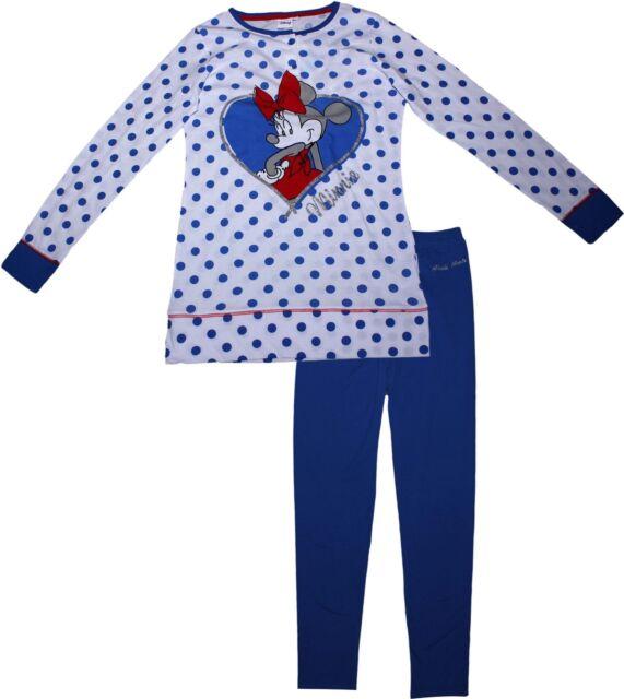 88d01c4b9d Womens Official Disney Minnie Mouse Long Sleeve Pyjamas Loungewear Set 2017  White XS - UK 6