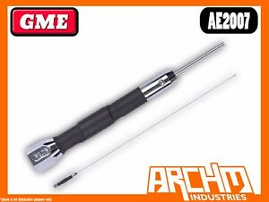 GME-AE2007-1200-MM-STAINLESS-STEEL-CHROME-MOBILE-ANTENNA-27-MHZ