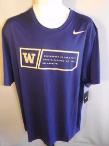 New-Washington-Huskies-Mens-Size-2XL-Purple-Nike-Dri-Fit-Athletic-Shirt-30