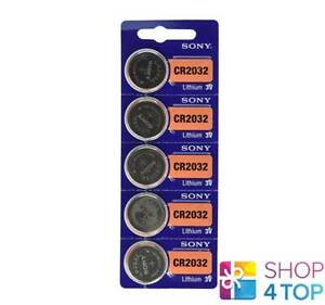 5-SONY-CR2032-LITHIUM-BATTERIES-3V-COIN-CELL-DL2032-EXP-2028-NEW