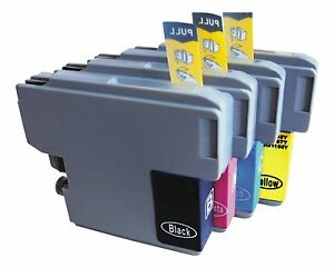 4x-Cartuchos-de-inyeccion-de-tinta-no-oem-alternativa-para-BROTHER-LC1240