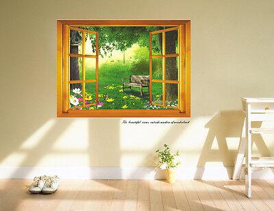 3D The beautiful views outside window Wall Decal Art Vinyl Sticker Home Decor