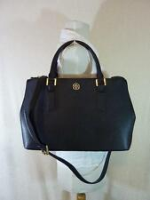 Tory Burch Black Saffiano Leather Robinson Mini Double-Zip/EW Tote - $475
