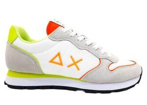 Scarpe da uomo SUN 68 Z31102 Tom sneakers basse casual sportive comode bianco