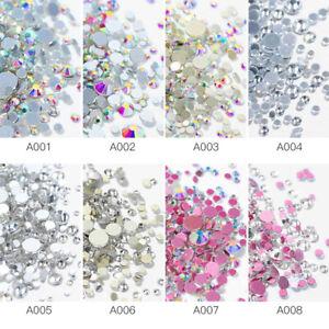 1440pcs-Colorful-Flat-Back-Nail-Art-Rhinestones-Glitter-Gems-3D-Tips-DIY-Decor