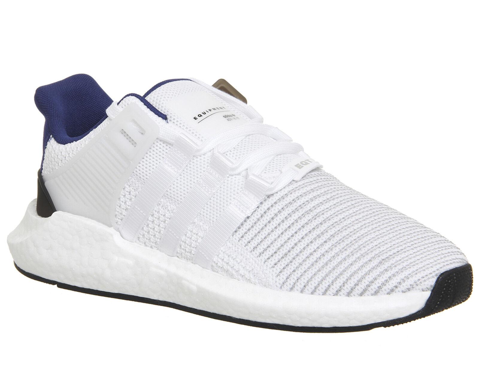Adidas EQT Support 93/17 Blanc/Noir/Bleu Baskets UK 7 EU 40.7 LN086 UU 01