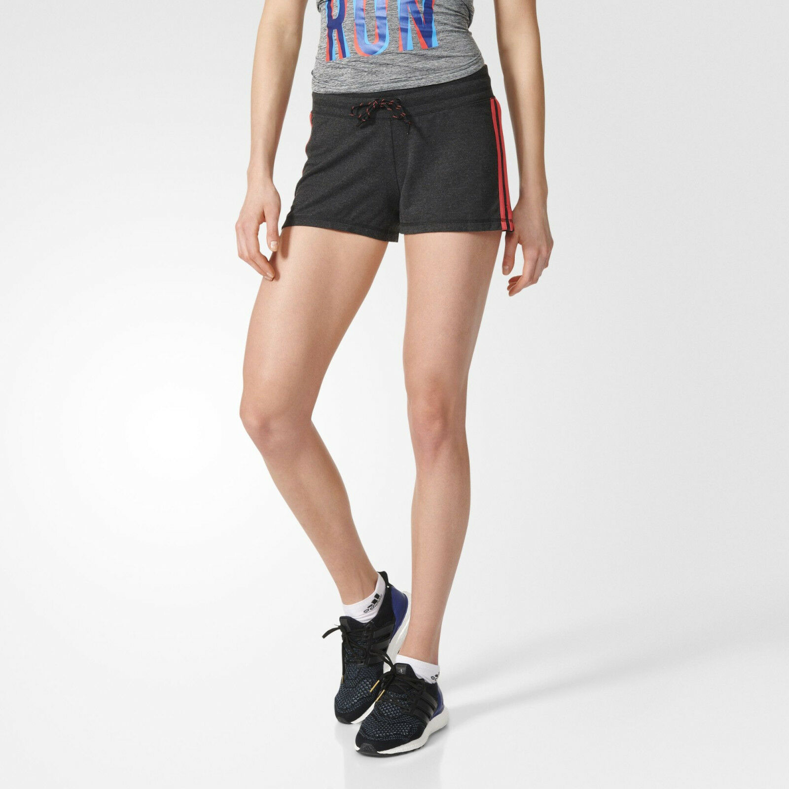 ÚJ AY4796 ADIDAS Essential 3 Stripe női futóhímzés GENUINE UK L-XL