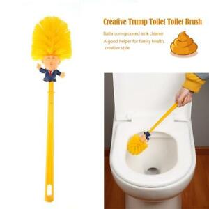 Creative-Plastic-Trump-Toilet-Nightstool-Brush-Bathroom-Groove-SinkCleaner-Funny