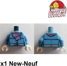 Lego New Dark Azure Torso Simpsons Green Belt Purple Radioactivity Warning