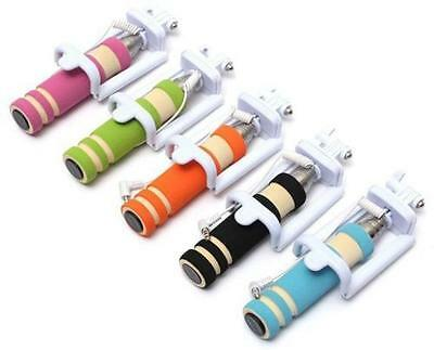 Lot of 5 Pcs Pocket Selfie Stick Extendable With AUX Cable For iPhone & Android