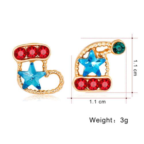 Fashion Christmas Women Jewelry Santa Claus Snowman Bell Elk Earrings Stud JJ