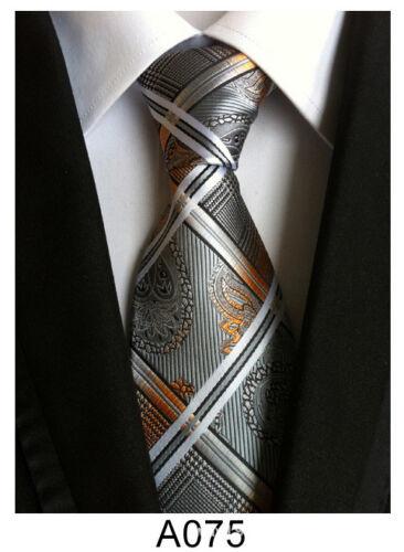 Classic Men/'s Stripe Paisley Floral Necktie JACQUARD WOVEN Polyester Silk Tie