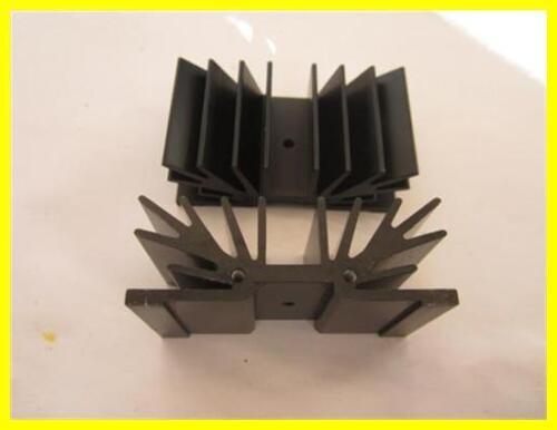 70x25x37,5mm 1 piezas Disipador perfil cuerpo de refrigeración aluminio negro aprox