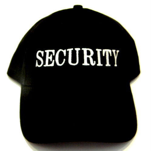 New High Quality Security Black Cotton Baseball Style Cap hat