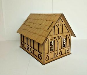 28mm-Fantasy-Tudor-Style-Small-House-T4A-2mm-MDF-Laser-Cut-Kit