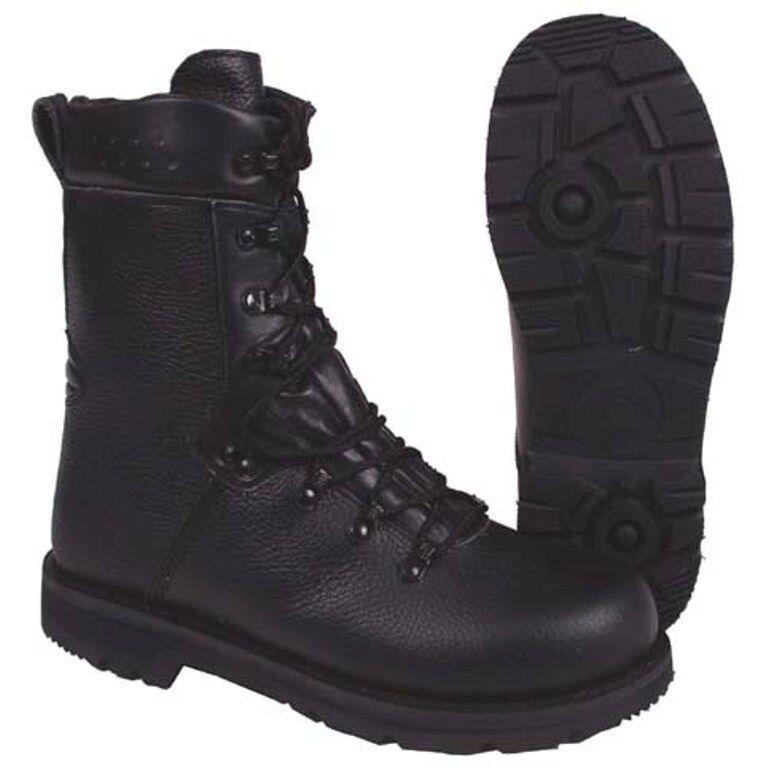 Nuevo botas de combate del ejército alemán tamaño 42 caballeros botas de cuero negras zapato de trabajo