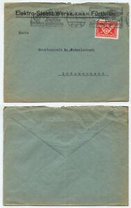 44172-Mi-Nr-371-Beleg-Elektro-Steatit-Werke-Fuerth-4-8-1925-Werbestempel