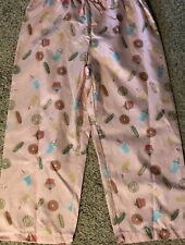 6168a4d83ceb7 item 3 Womens Pink Capri Pajama Pants Donuts Cupcakes Sleep Lounge Size  Large -Womens Pink Capri Pajama Pants Donuts Cupcakes Sleep Lounge Size  Large