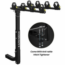 Smart Foldable Arm for Easy Access ECOTRIC Foldable 4 Bicycle Platform Bike Rider Carrier Mount Rack Fit 2 Hitch Receiver for SportCar Truck SUV 200 lbs Capacity