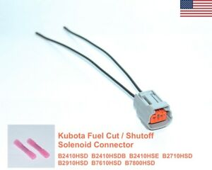 Kubota-Fuel-ShutOff-Solenoid-Connector-B-SERIES-B2410HSD-B2410HSDB-Many-More