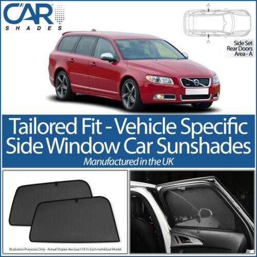 Volvo V70 XC70 Estate 5dr 07-16 CAR SHADES UK TAILORED UV SIDE WINDOW SUN BLINDS